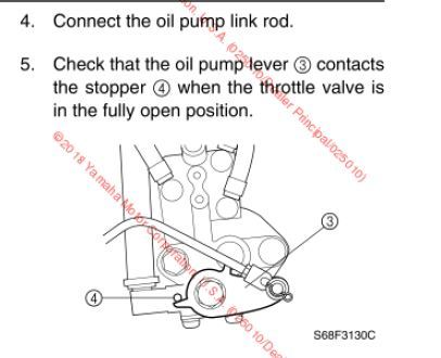 Oil Pump Linkage adjustment - BandOfBoaters com - Discussion