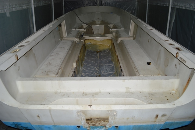 A 1989 Boston Whaler 22 Outrage we restored for a customer